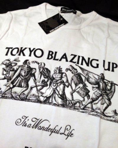 """画像1: KENICHI FUJISAKI × JETLINK """" TOKYO BLAZING UP """" T-SHIRTS 枚数・サイズ限定 再発"""