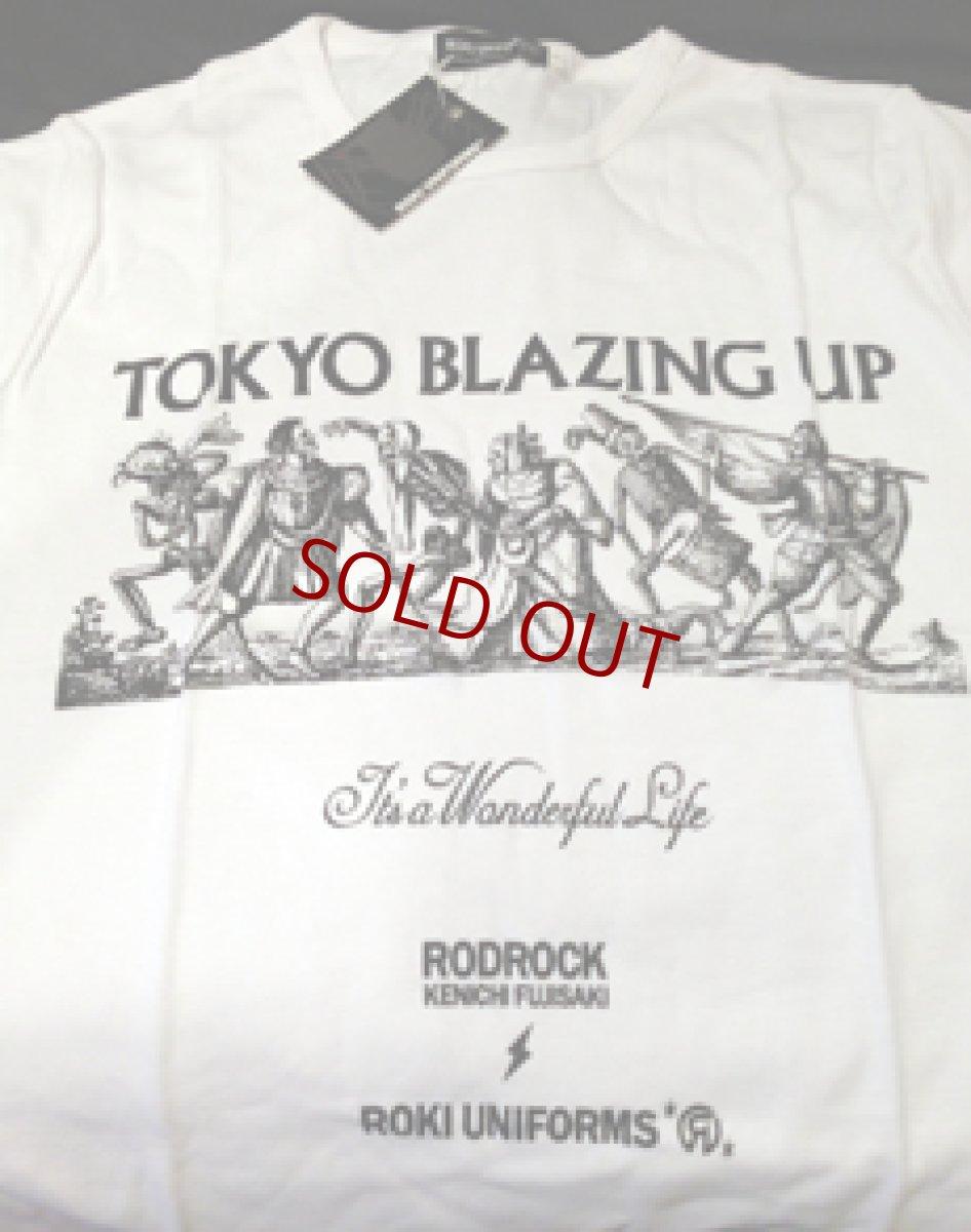 """画像1: KENICHI FUJISAKI × JETLINK """" TOKYO BLAZING UP """" T-SHIRTS 枚数・サイズ限定 再発 (1)"""