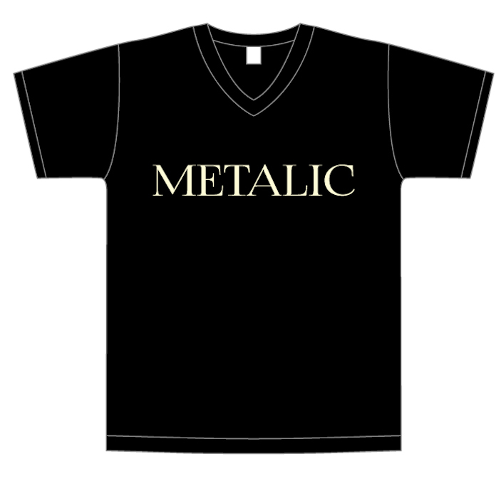 画像1: METALIC V-Neck T-Shirts (1)