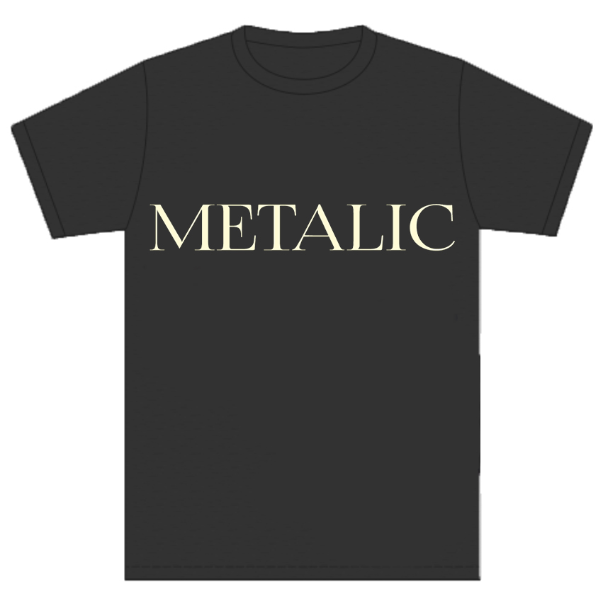 画像1: METALIC BLACK T-Shirts (1)