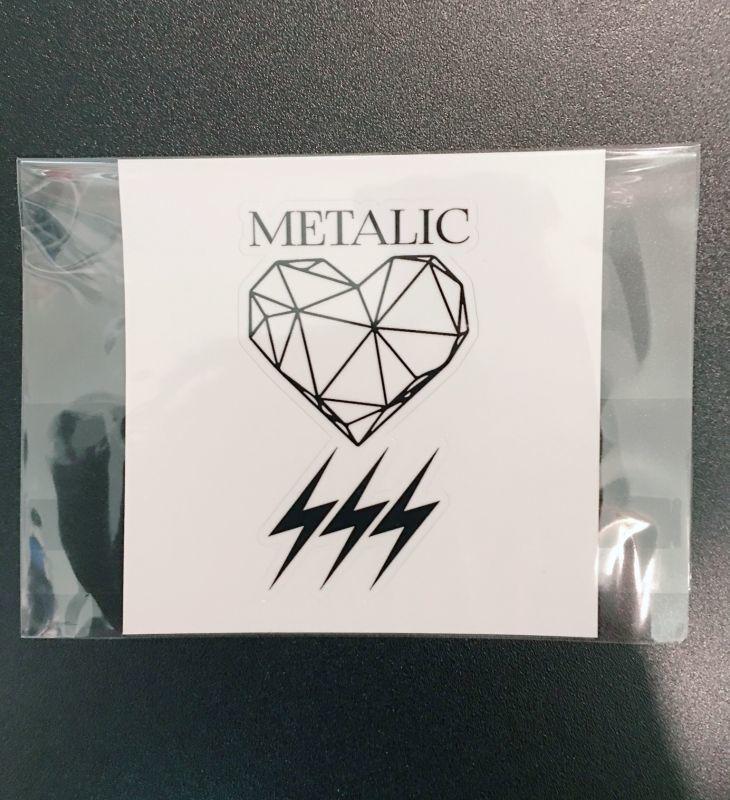 画像1: METALIC ロゴ型抜きステッカー (1)