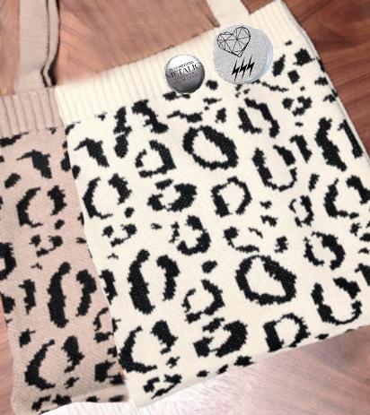 画像1: METALIC Leopard Tote Bag (1)